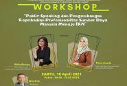 """Prodi Ilkom: workshop """"Publick Speaking Dan Pengembangan Kepribadian Profesionalitas SDM Menuju IKN"""""""