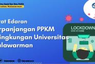 Surat Edaran Rektor Unmul Perpanjangan PPKM Dalam Masa Pandemi Covid-19 Di Lingkungan Universitas Mulawarman